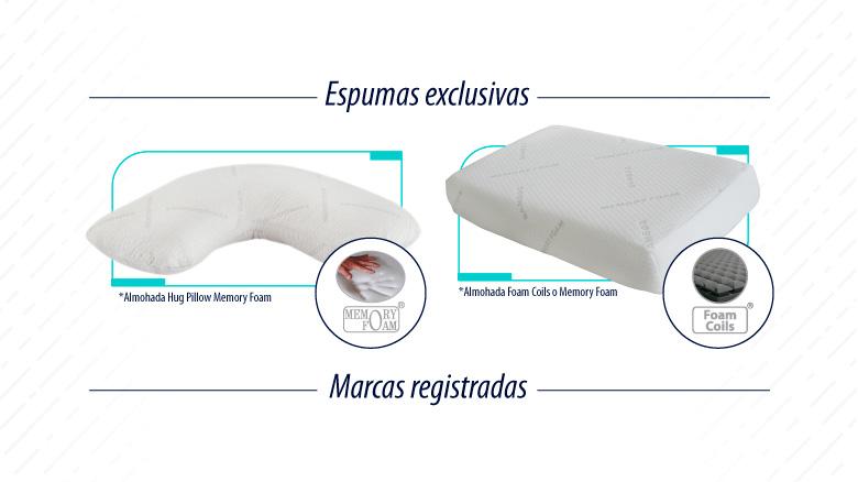 Almohadas Comodisimos compuestas de espuma exclusiva